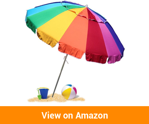 EasyGoUmbrella Giant Rainbow Beach Umbrella
