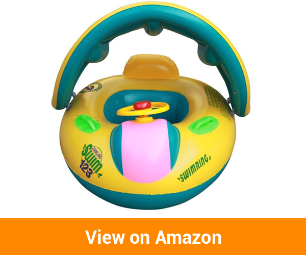 WXDZ Baby Pool Floats with Canopy