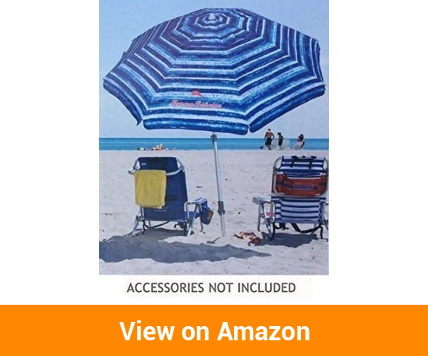Tommy Bahama Vented Fiberglass Beach Umbrella