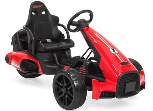Best Choice Products 12V Kids Go-Kart Racer Ride-On Car