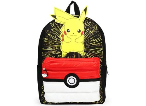 Pokémon 3D Pikachu Backpack School Bag