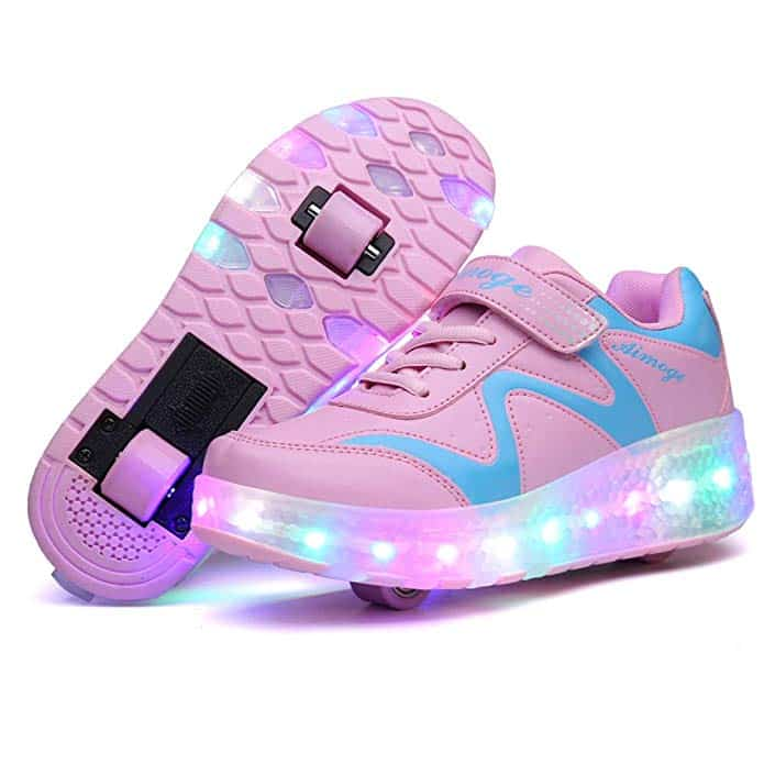 AIkuass LED Light Up Roller Shoes