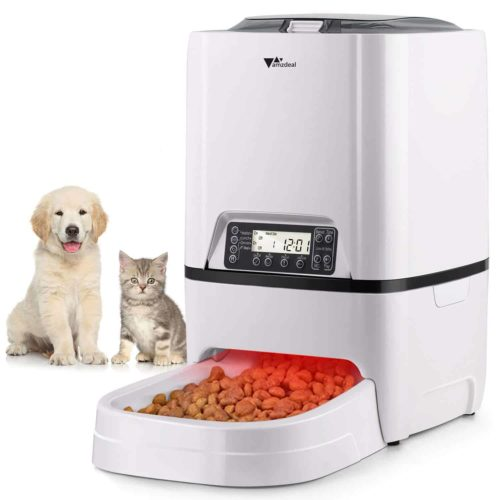 Amzdeal Automatic Dog Food Dispenser