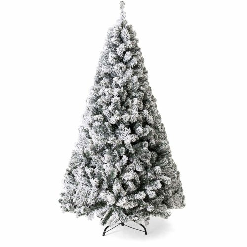 Best Choice Products Snow Flocked Hinged Pine Tree