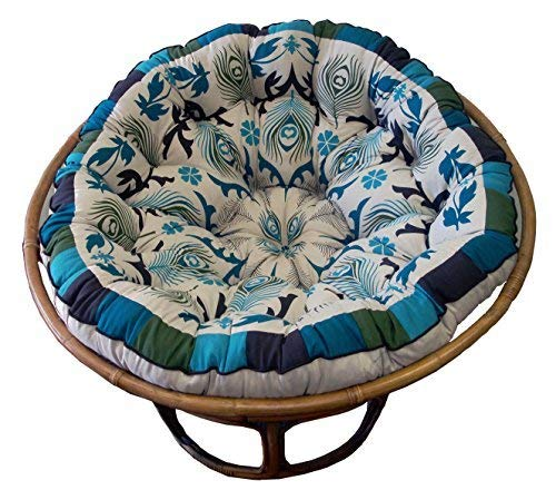 Cotton Craft Papasan Peacock Overstuffed Chair