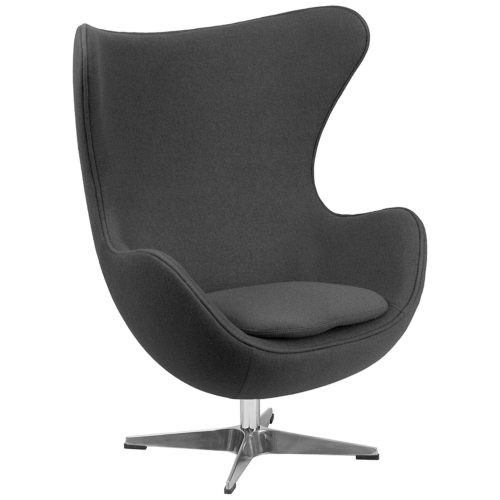 Flash Furniture Gray Wool Egg Chair