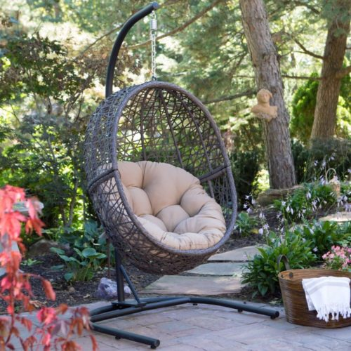 Island Bay Resin Wicker Hanging Egg Chair