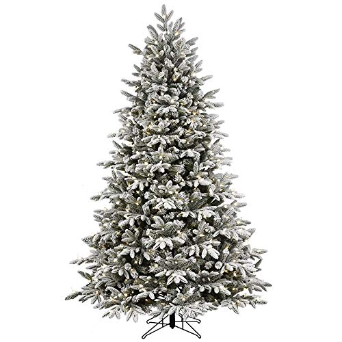 Kalwason Flocked Snowy Spruce Tree