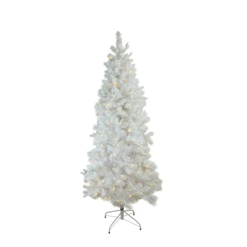 Northlight Pre-Lit Flocked White Pine Slim Tree