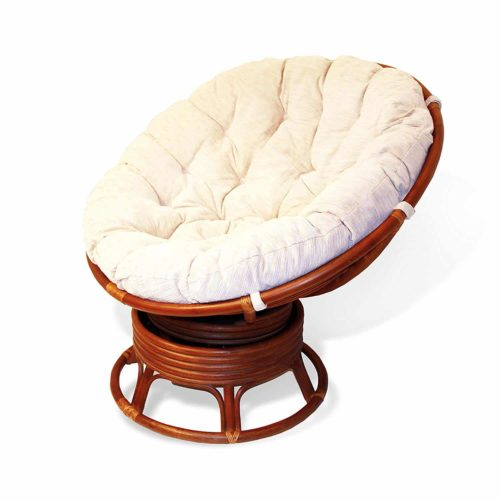 Rattan Wicker Swivel Rocking Round Papasan Chair