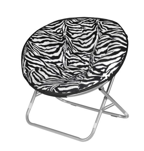 Urban Shop Zebra Faux Fur Saucer Chair