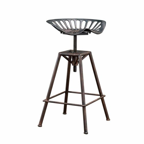 Charlie Industrial Metal Design Tractor Seat Adjustable Bar Stool
