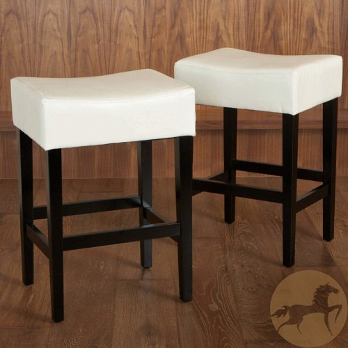 Duff 26-Inch Backless Leather Counter Stools