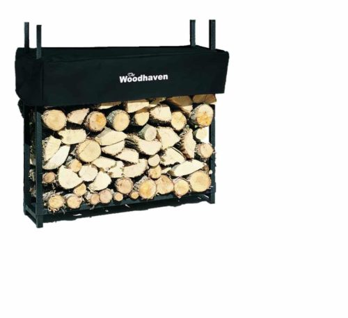 The Woodhaven 5 Foot Firewood Racks with Cover