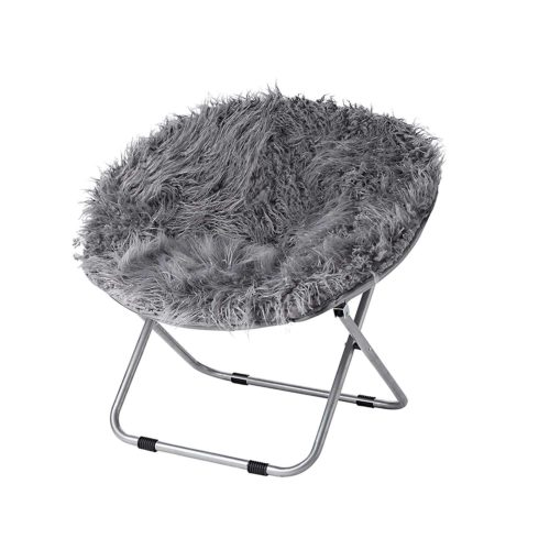DormCo Fur Moon Chair - Dark Gray