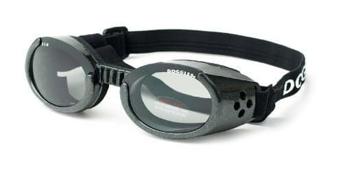ILS Extra Small Metallic Black Frame and Smoke Lens Doggles