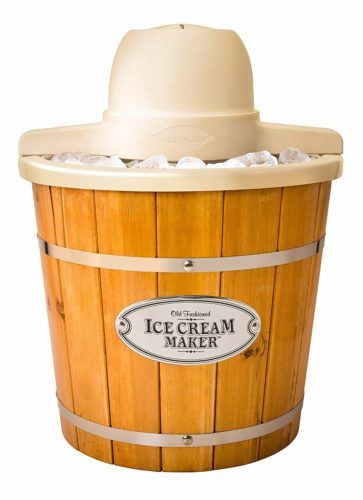 Nostalgia Electric Wood Bucket Ice Cream Maker