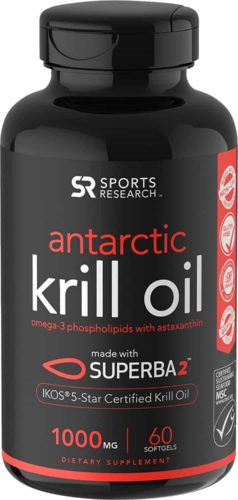 Sports Research Antarctic Krill Oil (Double Strength)