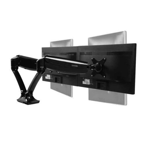 Loctek D5D Dual Monitor Arm Mounts