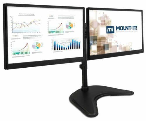 Mount-It! Free Standing Dual Monitor Stand
