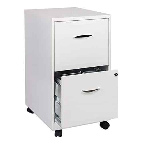 Scranton & Co 2 Drawer Steel Mobile File Cabinet