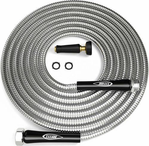 TITAN 25FT Metal Garden Hose