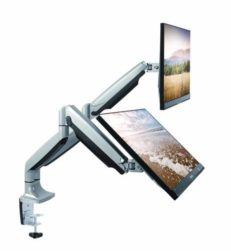 TechOrbits Dual Monitor Mount Stand