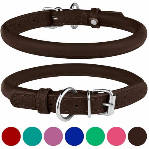 BRONZEDOG Rolled Leather Dog Collar