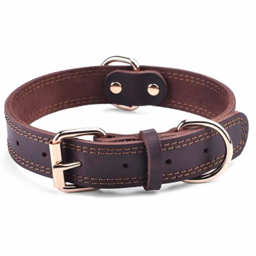 DAIHAQIKO Leather Dog Collar