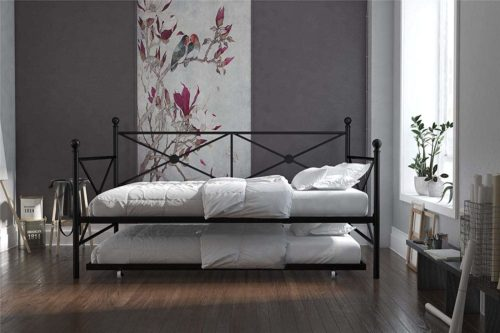 DHP Lina Metal Daybed with Trundle