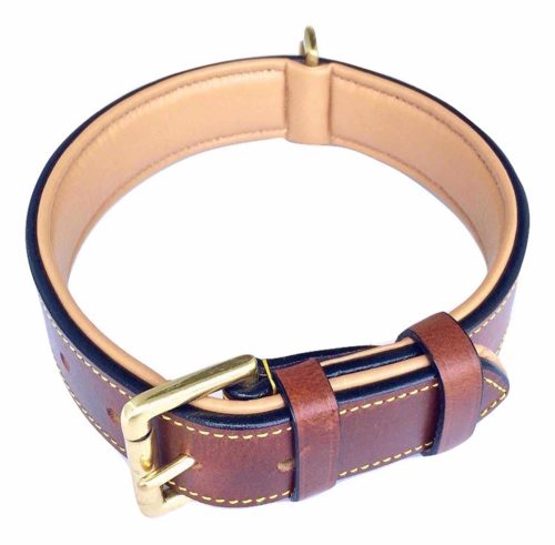 Soft Touch Collars Luxury Real Leather Collar