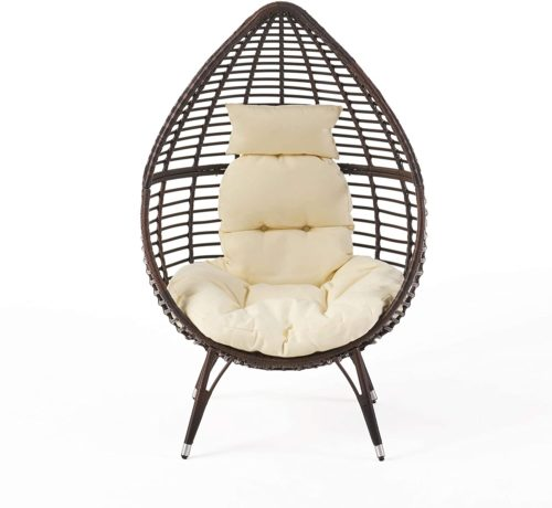Christopher Knight Home Dermot Multibrown Wicker Teardrop Chair