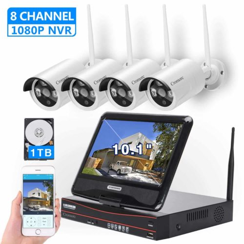 Cromorc All-In-One Monitor Wireless Security Camera System