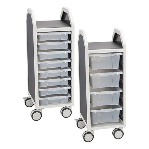 Learniture Profile Series Single-Wide Mobile Classroom Storage Cart