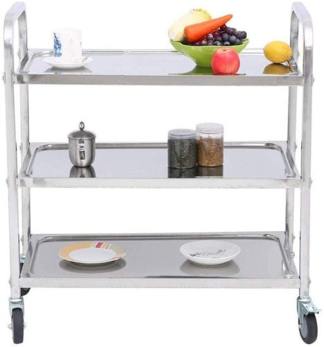 MYOYAY 3 Tier Stainless Steel Trolley Cart