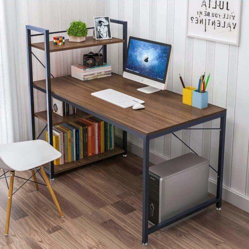 Multi-Level Writing Study Table with Book Shelves