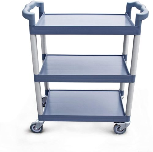 New Star Foodservice 54569 Plastic 3-Tier Utility Bus Cart