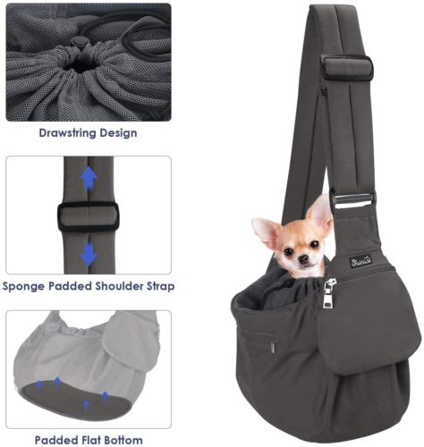 SlowTon Hand Free Puppy Cat Carry Bag