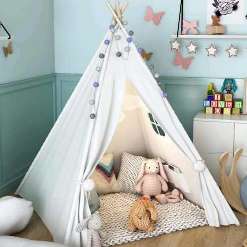 Sumbababy Teepee Tent for Kids with Carrying Case
