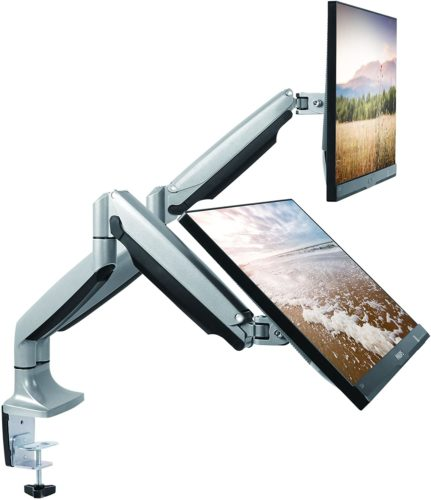 TechOrbits Dual Monitor Mount Stand – SmartSWIVEL