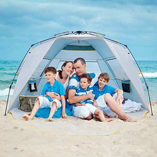 WolfWise 4 Person Easy Up Beach Tent