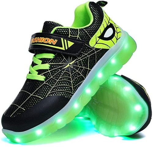 YUNICUS Kids Light Up Shoes Led Flash Sneakers