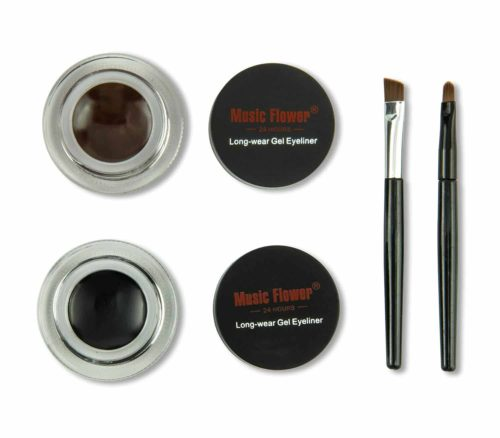 Flora 2 in 1 Black and Brown Gel Eyeliner Set