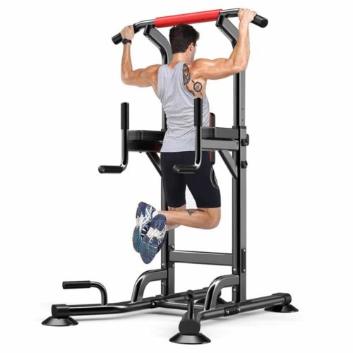 Yoleo Adjustable Power Tower - Multi Function Pull up Station
