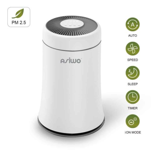 Asiwo Air Purifier with Negative Ion Soot Sensor