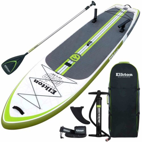 Elkton Outdoors Grebe 12 Foot Fishing Inflatable Paddle Board