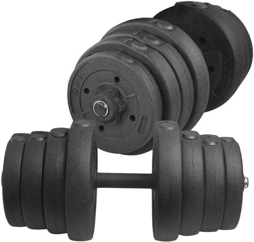 Yaheetech Adjustable 66LB Dumbbell Weight Set