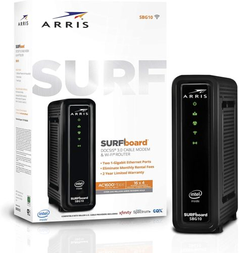 ARRIS Surfboard DOCSIS SBG10 AC 1600 Wi-Fi Router 3.0 Cable Modem