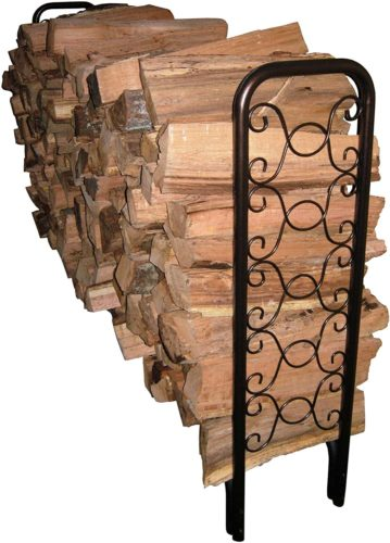 Landmann USA 82436 8-Foot Ornamental Scroll Log Rack