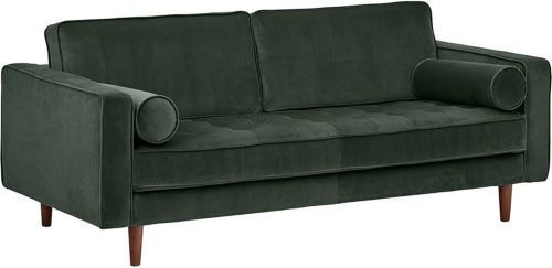 Rivet Aiden Tufted Mid-Century Modern Velvet Bench Sofa